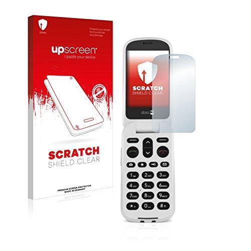 upscreen Schutzfolie kompatibel mit Doro 6050 – Kristallklar, Kratzschutz, Anti-Fingerprint
