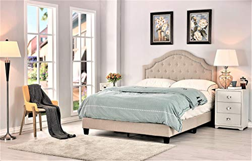Container Furniture Direct B8112-F Sklar Ultra Modern Button Tufted Upholstered Panel Bed, 77.70""