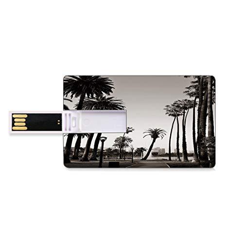 64GB Chiavette USB Flash Palma Archiviazione su Memory Stick del disco U della chiave di affari della forma della carta di credito Los Angeles Downtown Park View Natura tropicale California Simbolo a