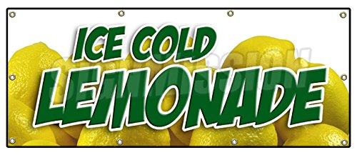 "36""x96"" Lemonade 1 Banner Sign lemonaid ice Cold Fresh Homemade Drinks Food"