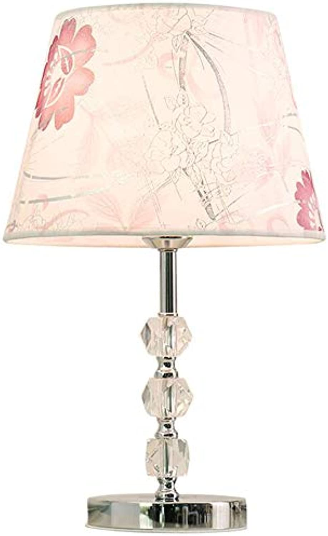 XZLIGHT Moderne Kristall Tischlampe 110V-240V Plating Prozess dekorative Lampe, geeignet für Schlafzimmer Nachttischlampen Leistung A +