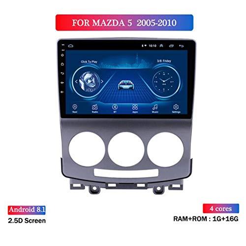 Yuahwyehe Android 9 Autoradio Stereo-Headunit Passend Für Mazda 5 2005-2010 Player Radio 9 Zoll HD Touchscreen GPS Navigation Mit Bluetooth WiFi Lenkradsteuerung,4g+wifi1g+16g
