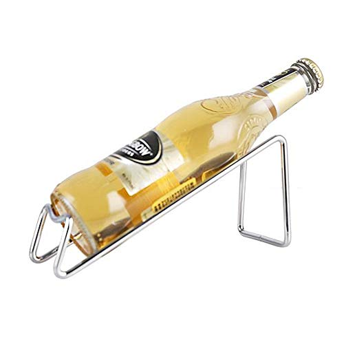 Stainless Steel Wine Rack - Single Wine Bottle Holder Rack Display - BRTL0039 Silver