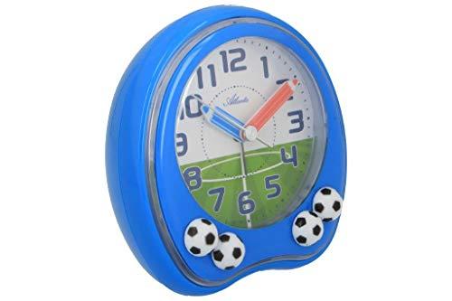 PUREgrey Fußball Kinder Wecker blau weiß