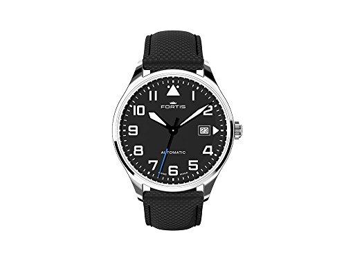 Fortis Pilot Classic Date Automatik Uhr, 40mm, Schwarz, Tag, 902.20.41 LP