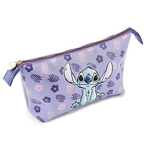 Disney Neceser Mujer De Stitch, Neceser Maquillaje, Bolsa De Viaje para Mujeres, Bolsa De Aseo De Lilo y Stitch