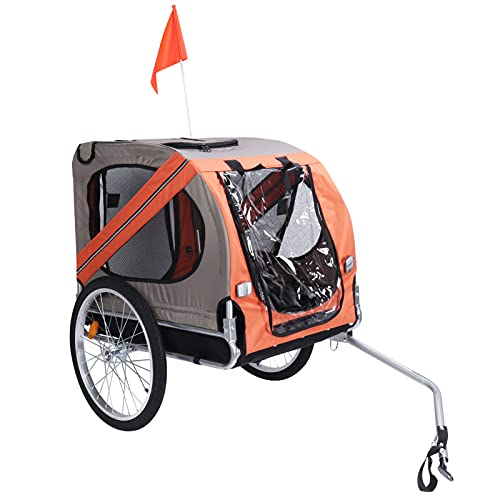 Pet Dog Bike Bicycle Collapsible Trailer Pet Ourdoor Stroller for Cats Dogs