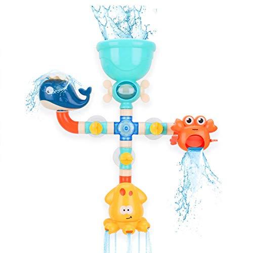 U-A Juguetes de baño para bebés, Juguetes de Bricolaje para tuberías de Agua con rociador de Agua, Juguetes para bañera para niños pequeños, niños, niñas, niños
