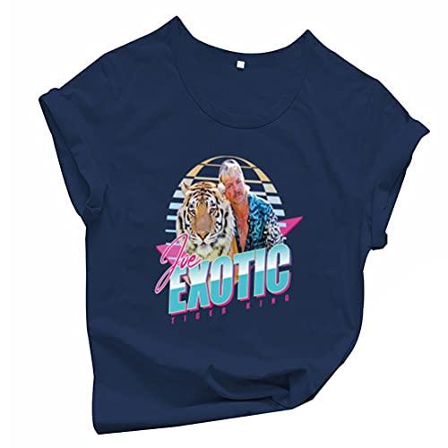 Tiger King Joe Exotic Camiseta Camiseta de Manga Corta Unisex de Moda del diseño de los Hombres y Mujeres de Todo el algodón del Inconformista Camiseta de Manga Corta de Las Mujeres de Peso Ligero de