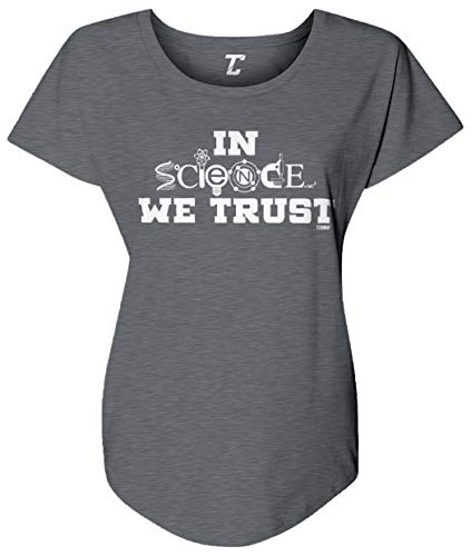 in Science We Trust - Atheist Women's Dolman (Charcoal, X-Large)