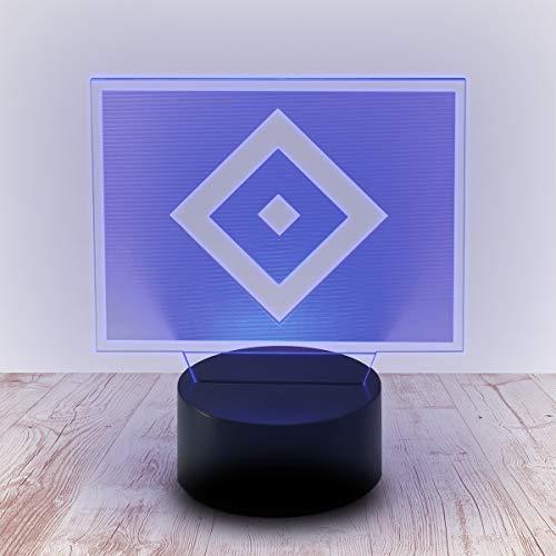 Hamburger SV HSV LED Lampe, Licht Raute 30122