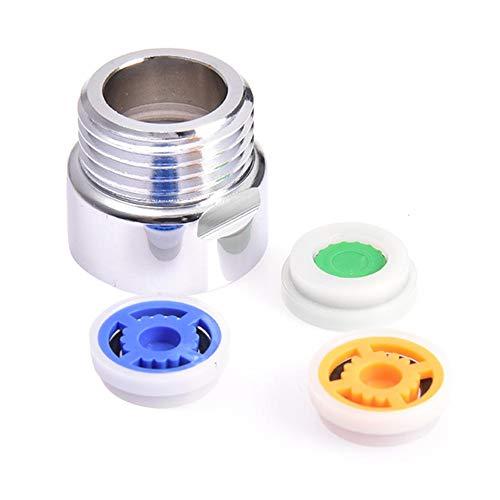 Fancylande Doucheadapter zuinig, verloopstuk voor doorstroom, set van 4 stuks serie HA douchekop met sproeikop boven, adapter 4 punten (1/2 inch), speciaal afgrenzingsventiel (6 blauw + 9 geel + 4 Classy)