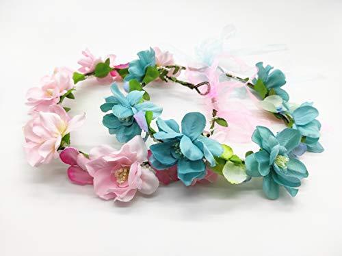 Diadema de flor para novia en la boda Tiara de flor para...