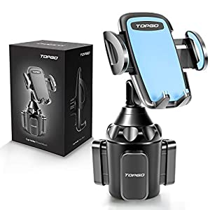 Cup Holder Phone Holder, TOPGO [Secure & Stable] Car Cup Holder Phone Mount Cell Phone Automobile Cradle for iPhone, Samsung and More Smart Phone -Blue