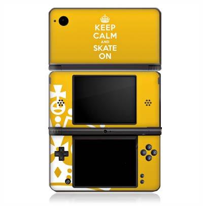 DeinDesign Skin kompatibel mit Nintendo DSi XL Aufkleber Sticker Folie Keep Calm Skateboard Skaten