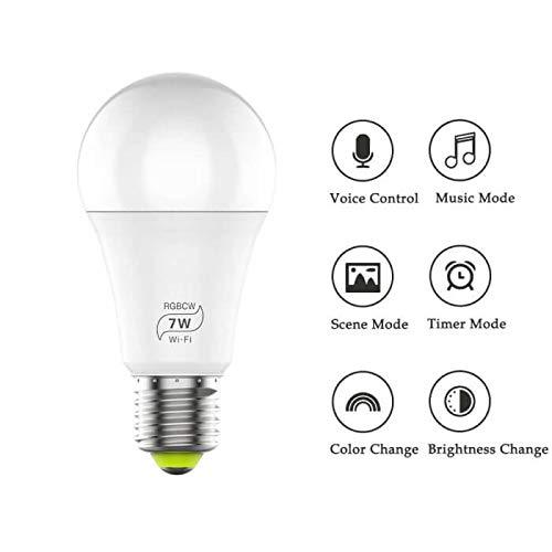 Lipa B15516 7W wifi smart lamp / 16 miljoen kleuren / Remote control / Groepstoegang / Meer lampen toevoegen per app / Voice control / Timer / Microfoon