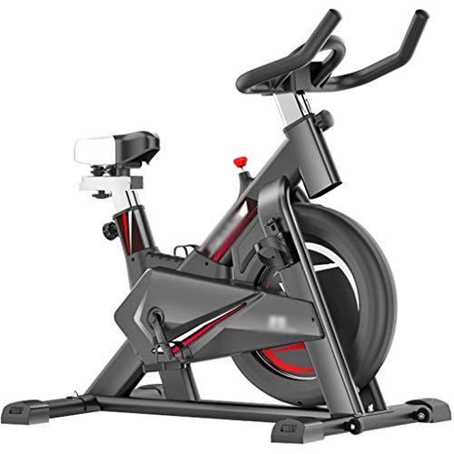 WGFGXQ Bicicleta estática Bicicletas de Fitness para el hogar Bicicleta de Spinning para Interiores silenciosa, Bicicleta para Adelgazar de Oficina, Equipo de Fitness para Bicicleta de Spinning, PU