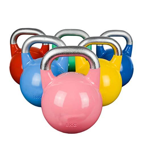 XMH Kettlebells Professionelle Sport-Kettlebells, Wettkampf-Kettlebell, Stahlfarbe Home Fitness Lifting Hanteln, Schwere Kesselglocke Für Kraft- Und Cardio-Training - Kettlebells,10kg