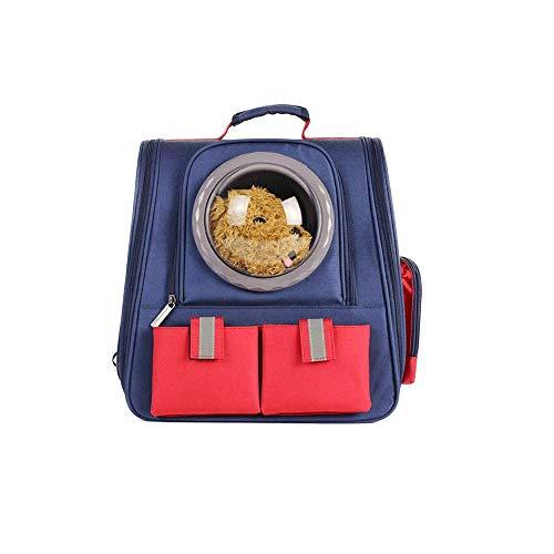 Ademende rugzak voor honden en katten, grote capaciteit, transporttas voor katten en honden. Blauw