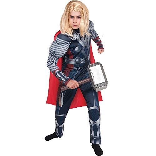 Costumes USA The Avengers Thor Muscle Costume for Boys, Size Large, Includes a Padded Jumpsuit and an Attached Cape