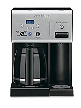 Cuisinart CHW-12P1 12-Cup Programmable Coffeemaker Plus Hot Water System Coffee Maker Black/Stainless