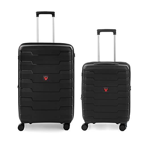 RONCATO Skyline set 2 maletas rígidas expandibles (medio + cabina) Negro