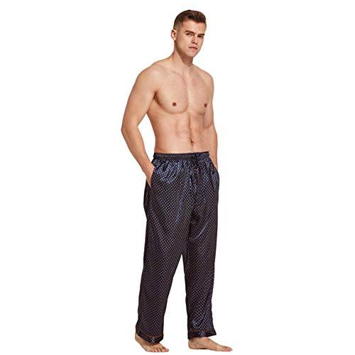 POMU Pajama Broek Mannen Satijn Zijde Slaap Bottoms Casual Broek Mannelijke Slaapmode Mannen Lounge Pyjama Zacht Ondergoed