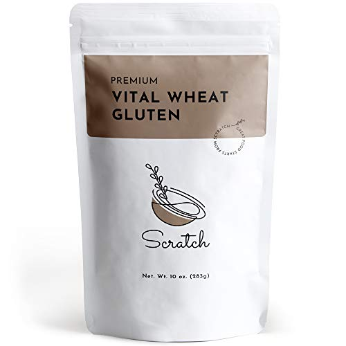 Scratch Premium Vital Wheat Gluten - (10 oz) Seitan Flour, High Protein, Low Carb, Vegan, Non GMO Gluten Powder