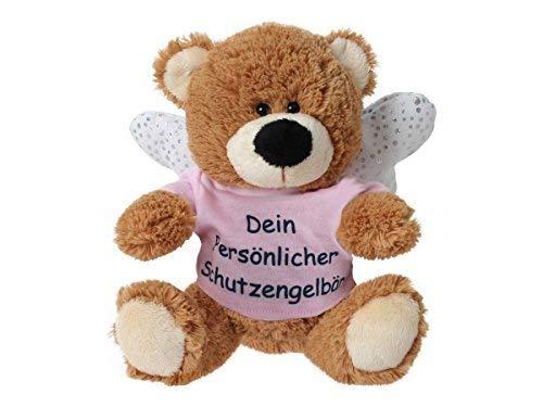 TE-Trend Schutzengel Schutzengelbär Glücksbär Plüsch Teddy Teddybär Glücksbringer Kinder Geschenk Rosa