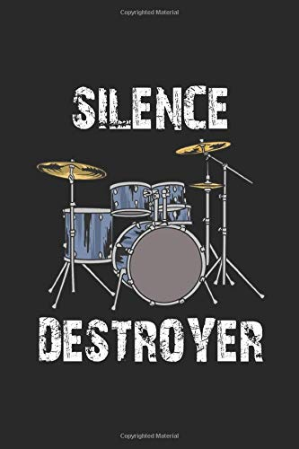 Silence Destroyer: 6x9 Ruled Notebook, Journal, Daily Diary, Organizer, Planner