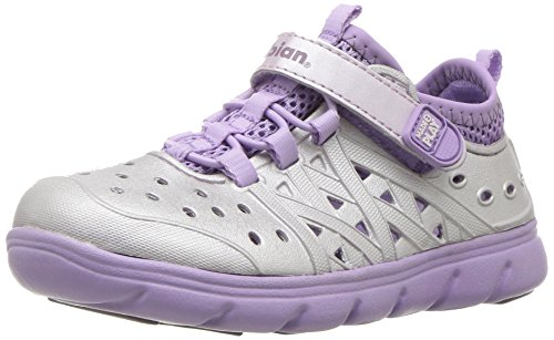 Stride Rite Made 2 Play Phibian Sneaker Sandal Water Shoe (Toddler/Little Kid/Big Kid), Purple Metallic, 3 M US Little Kid