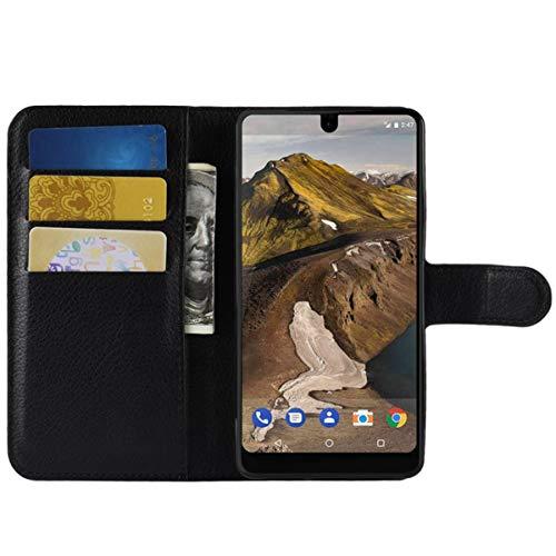 Moto G3 Hülle, HualuBro Premium PU Leder Leather Wallet HandyHülle Tasche Schutzhülle Flip Hülle Cover mit Karten Slot für Motorola Moto G (3. Generation) / G3 Smartphone (Schwarz)