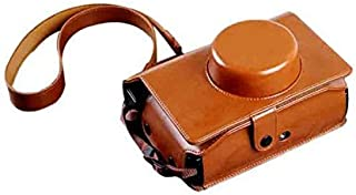 Insho Retro PU Leather Lomo Instant Camera Case Bag with Shoulder Strap for Lomography Lomo'Instant Wide Camera - Brown