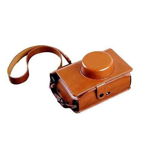 insho Retro PU Leder Lomo Sofortbildkamera Fall Tasche mit Schultergurt für Lomography Lomo 'instant breit Kamera–Braun