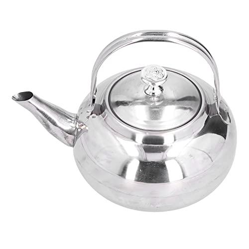 Cafetera, tetera de acero inoxidable exquisita tetera cafetera con colador de té para restaurante en casa(18cm)