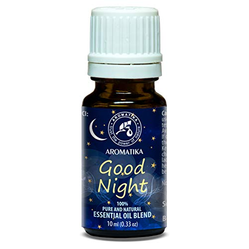 BONNE NUIT 10ml - Mélange de Arômes avec 100% Pur et Naturel Huile Essentielle de Lavande et Huile de Sauge - pour un Rêve Doux - Aromalamp - Aromathérapie - Essentials Oils Blend for Good Night