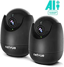 Home Camera - 1080P Indoor Camera Wireless with AI Human Detection, Pet Camera with Audio, Night Vision IP Camera, Cloud Storage 24s Smart-Clip, TF Card Support, 2 Way Audio, Work with Alexa (2pack)