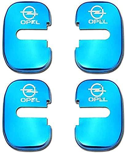 Cubierta Cerradura Puerta Coche Acero Inoxidable para Opel Insignia Astra Accesorios,Anticorrosión interior Protector Tapa,4Pcs,Con pegamento 3M