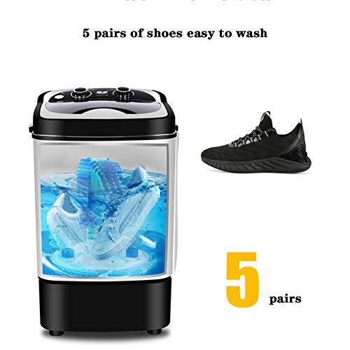 Draagbare ultrasone wasmachine voor schoenen – volautomatische centrifugemachine met wasmachine en afvoerpomp, voor gymnastiekschoenen