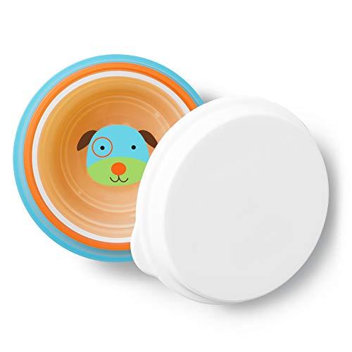 Skip Hop Baby Bowls: Dishwasher and Microwave Safe Non-Slip Bowls with Storage Lid, 3 Piece Bowl Set, Dog