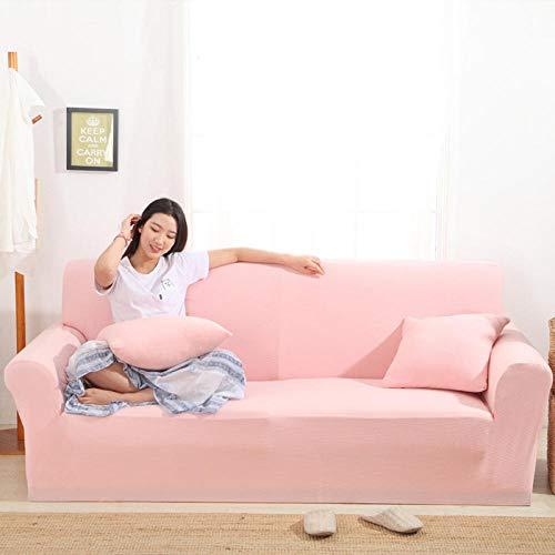 HXTSWGS Housse de Canapé d'angle Extensible,Elastic Sofa Cover, Living Room Sofa Cover, Elastic Furniture Cover-Princess Powder_190-230cm