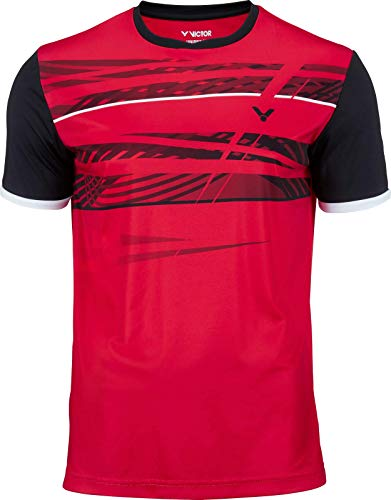 VICTOR T-Shirt Fonctionnel de Badminton Rouge, XL