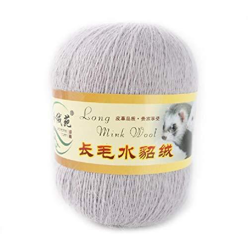 50 gramos por persona Lana de visón suave de alta calidad tejida a mano de lujo de cachemira de lana larga Hilo de punto de crochet adecuado para otoño e invierno Ovillas de lana gruesa de lana de