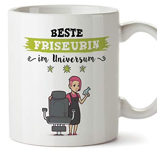 Friseurin Tasse/Becher/Mug Geschenk Schöne and lustige kaffetasse - Diese Tasse gehört der besten Friseurin im Universum - Keramik 350 ml