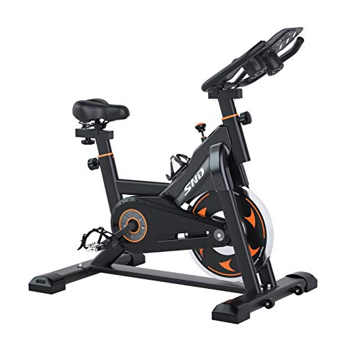 SND Magnetic Resistance Whisper Quiet Indoor Cycling Bike Stationary -Cycle Bike with Tablet...