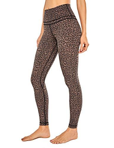 CRZ YOGA Mujer Mallas Deportivo Pantalón Elastico para Running Fitness-71cm Estampado de Leopardo 2 38