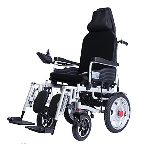 LFLLFLLFL Scooter para Ancianos Y La Silla De Ruedas Eléctrica Plegable Liviana para Discapacitados, Cojinete De Carga De Acero Al Carbono 150 Kg De Doble Función De La Linterna 250W Dual