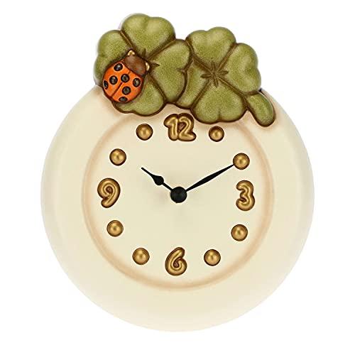 THUN ® - Orologio da Parete con quadrifogli e Coccinella Portafortuna