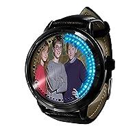 ハリーポッターの背景画像アニメーション時計、防水LEDシリコンタッチスクリーン時計、休日のカップルのギフト時計。-A5