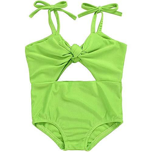 IFFEI Baby Meisjes Een Stuk Hollow Out Strappy Badpak Bowknot Beach Badmode Badpak voor Baby Peuter